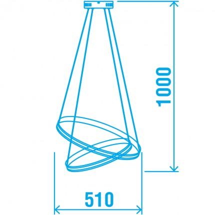 Светодиодная люстра BRISTOL/SP2 chrome