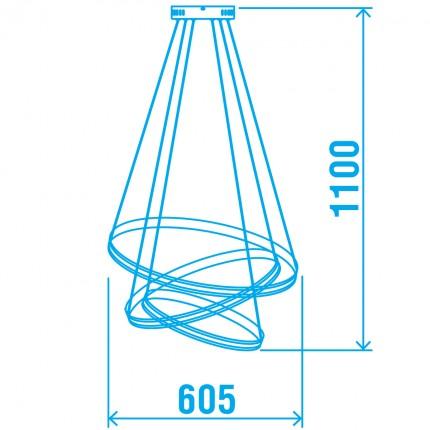 Светодиодная люстра BRISTOL/SP3 chrome