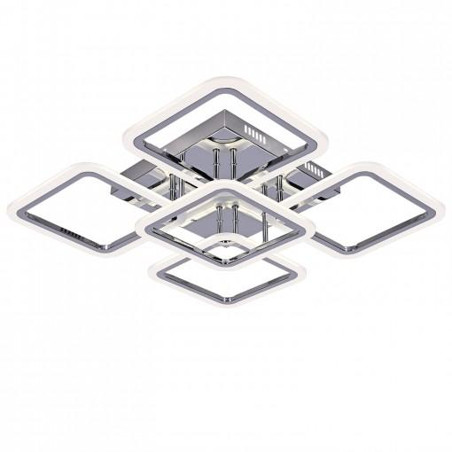 Светодиодная люстра с пультом RHOMBUS/PL5 chrome