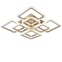 Светодиодная люстра с пультом RHOMBUS/PL8 gold