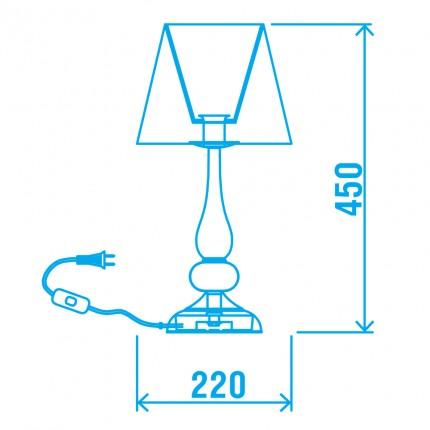 Настільна лампа BELLADONNA/TL1